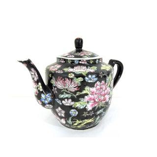 20th Century Vintage Famille Noire Porcelain Chinese Teapot Preview