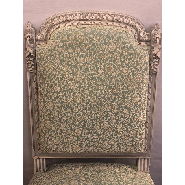 Late 19th Century Pair of 19th-20th Century Paint Decorated Louis XVI Style Swedish Side Chairs For Sale - Image 5 of 13