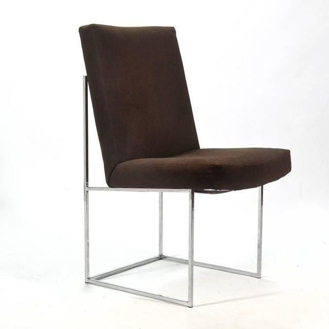 1970s Milo Baughman Set of Six Dining Chairs by Thayer Coggin For Sale - Image 5 of 10