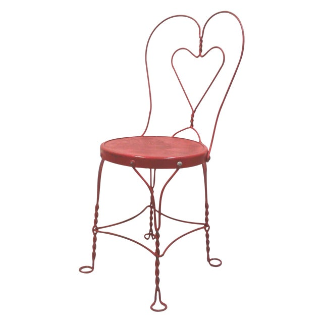 Red Iron Ice Cream Cafe Chair - Image 1 of 10