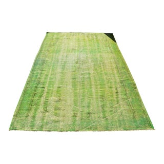 Antique Green Rug- 5′4″ × 8′4″ For Sale