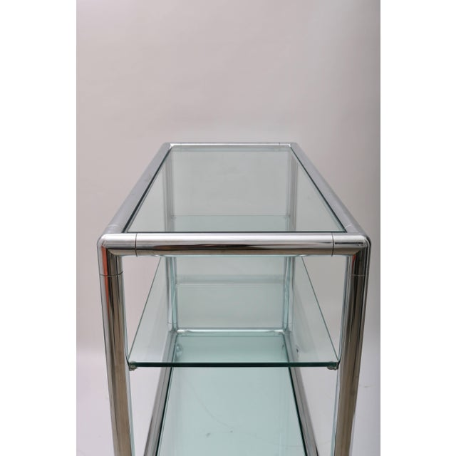 Metal Polished Chrome & Glass Bar Cart by Pace For Sale - Image 7 of 10