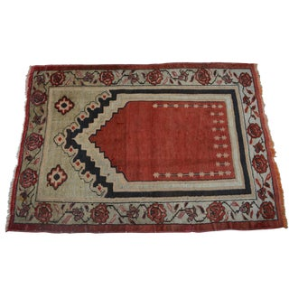 Antique Turkish Tribal Hand Knotted Rug - 2′10″ × 4′