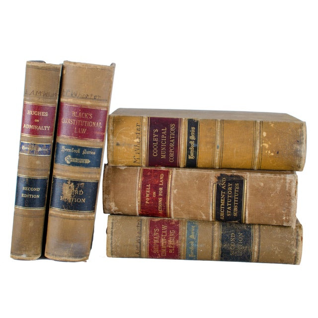 Antique Hornbook Series Law Books - Set of 5 For Sale In Savannah - Image 6 of 6