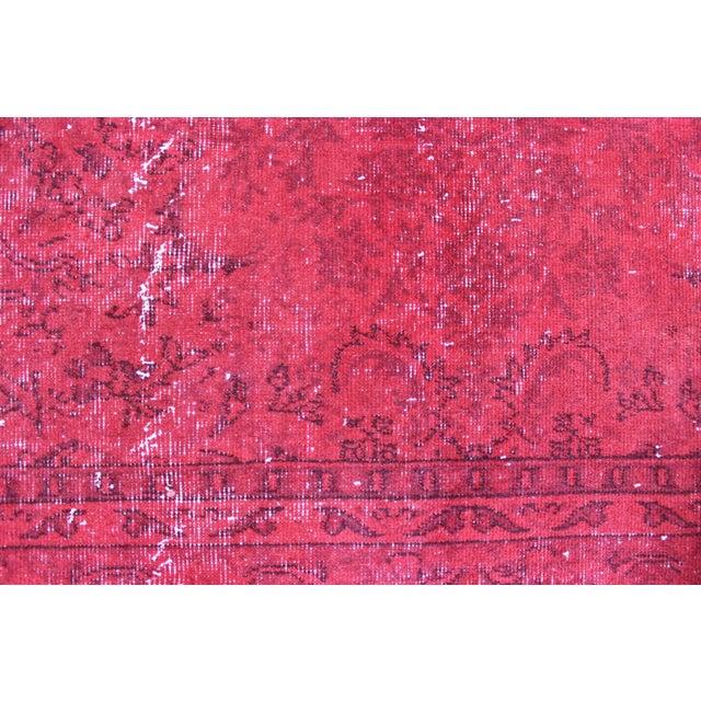 Red Overdyed Vintage Turkish Rug - 7′ × 10′10″ - Image 4 of 8