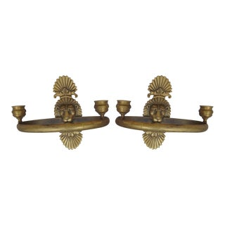 Mid 19th Century French Napoleon III Empire Neoclassical Sconces - a Pair For Sale