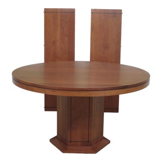 Stickley 21st Century Collection Round Cherry Dining Room Table For Sale