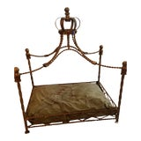 Image of Baroque Pet Bed With Gemstone Crown For Sale