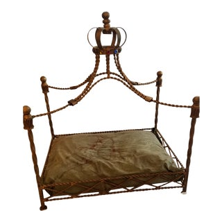 Baroque Pet Bed With Gemstone Crown For Sale