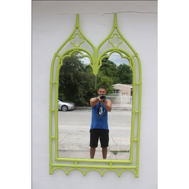 McGuire Bamboo Double Arch Wall Mirror - Image 9 of 9