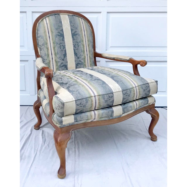 Late 20th Century Vintage Lattice Back Thomasville Chair For Sale - Image 9 of 9