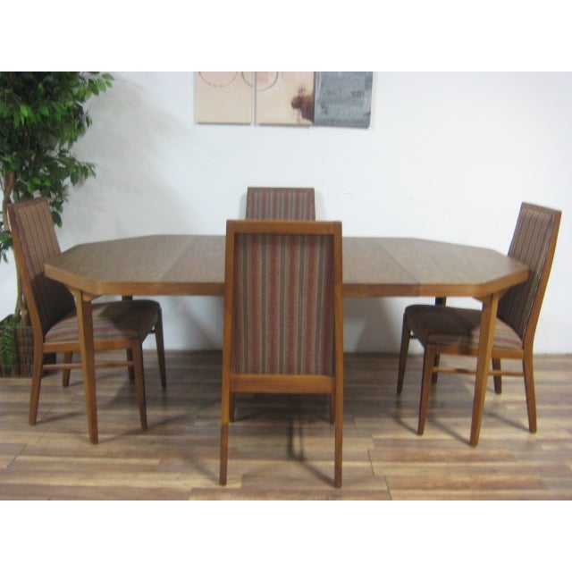 Vintage Dual Leaf Teak Dining Set - Image 5 of 11