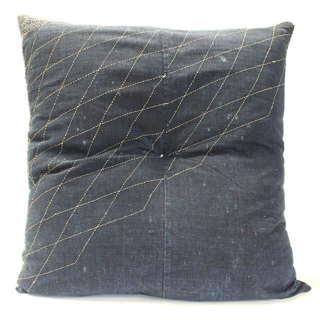 Japanese Furoshiki & Kasuri Futonji Floor Pillow For Sale In New York - Image 6 of 6