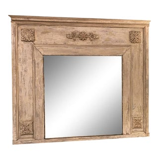 19th Century French Antique Painted Mirror For Sale