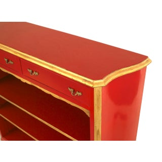 """French 1940s """"Louis XV Style"""" Red Lacquered Bookcase, by Jansen Preview"""