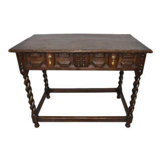 19th Century English Jacobean Side Table, Sofa Table, Sideboard For Sale