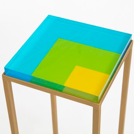 """The Ellsworth drinks table is the perfect """"go anywhere"""" table! The table bases are handcrafted out of steel with a gold..."""