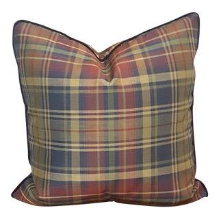 Silk Plaid Feather Pillow