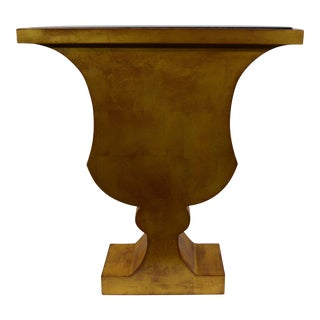 1990s Joe Wheaton Gilded Urn Form End Table For Sale