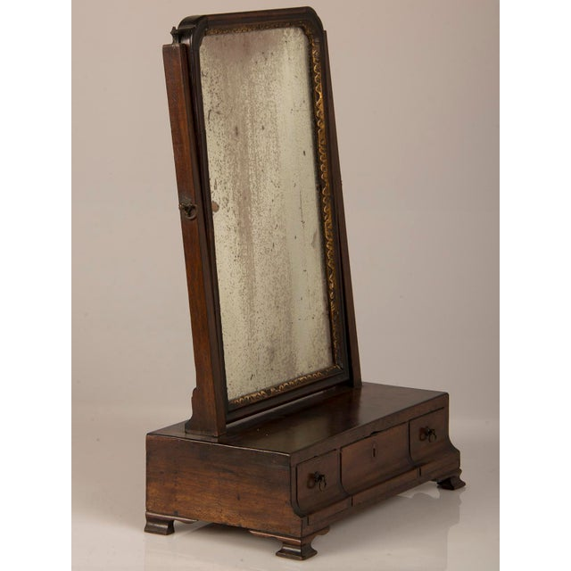 18th Century George III Period Mahogany Dressing Mirror For Sale In Houston - Image 6 of 8
