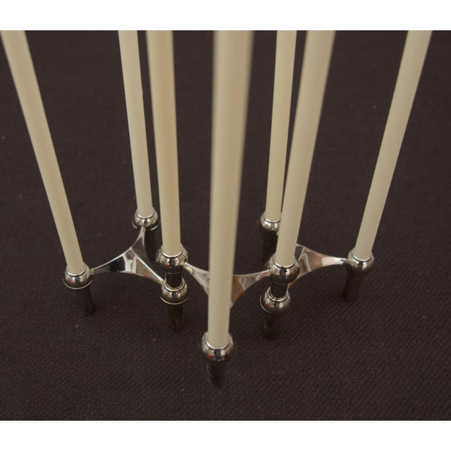 Metal Brass candle holder by Fritz Nagel & Ceasar Stoffi for BMF, 1962 - set of 3 For Sale - Image 7 of 11