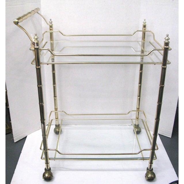 Mid Century Italian Chrome Brass plated Bar Cart, Original Smoked Glass Shelfs. Great original condition. No chips to the...