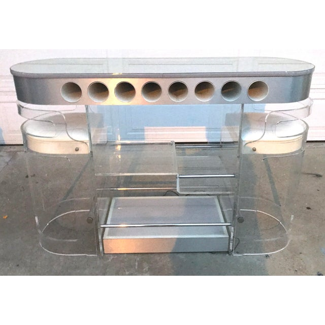 1970s 1970s Lucite Bar With Stools by Hill Mfg For Sale - Image 5 of 7