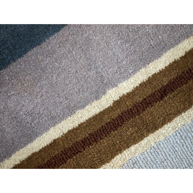 1980s handmade vintage Indian Modern rug 5.6' x 7.9' For Sale - Image 4 of 10