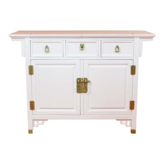 Asian Modern Style Century White Credenza For Sale
