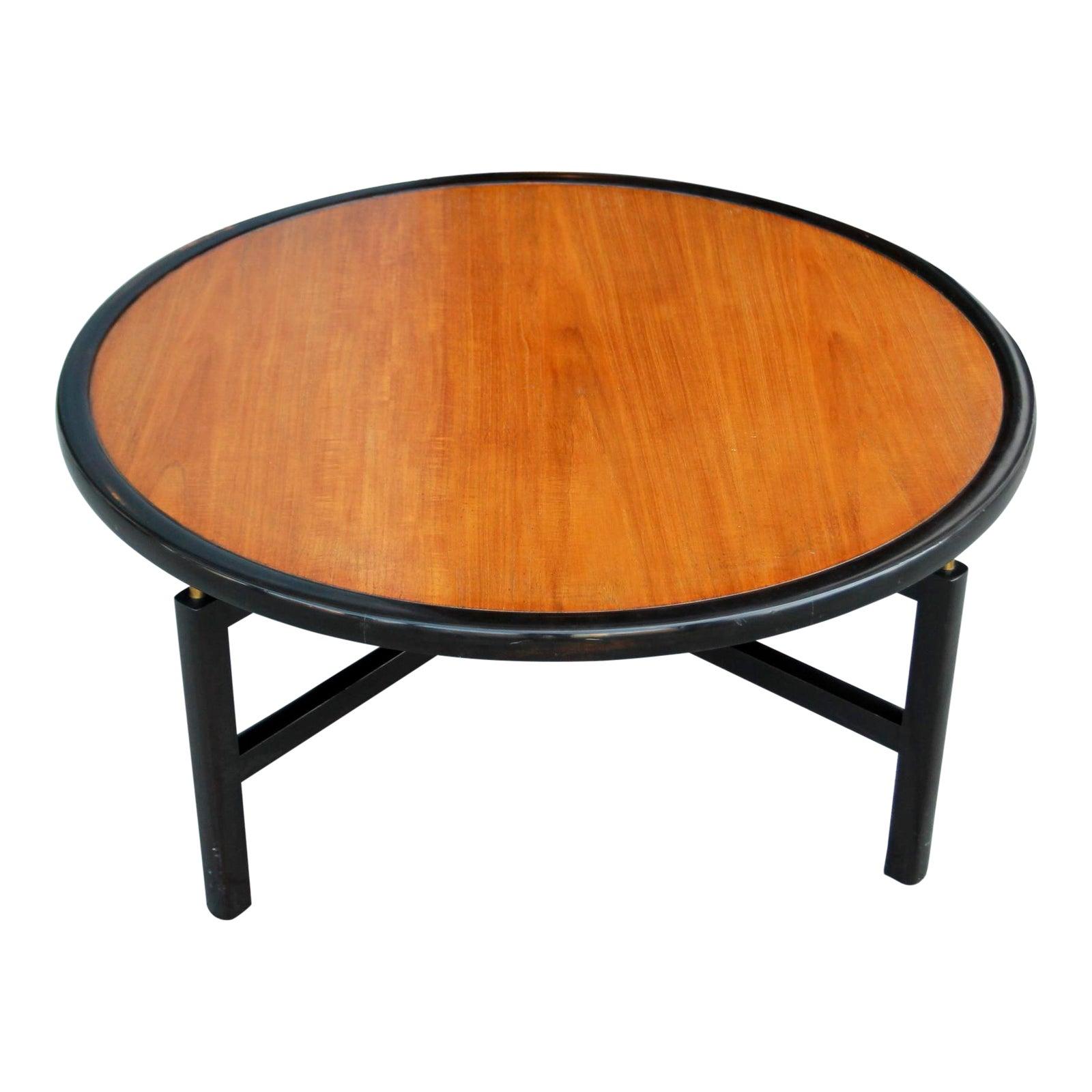 1960s Mid Century Modern Baker Furnitue Round Coffee Table Chairish