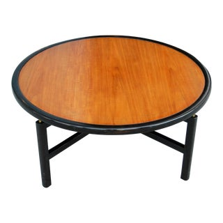 1960s Mid-Century Modern Baker Furnitue Round Coffee Table For Sale