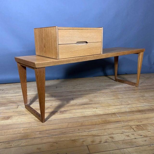 Oak Hall Table by Kai Kristiansen for Aksel Kjersgaard, Denmark 1960s For Sale - Image 10 of 10
