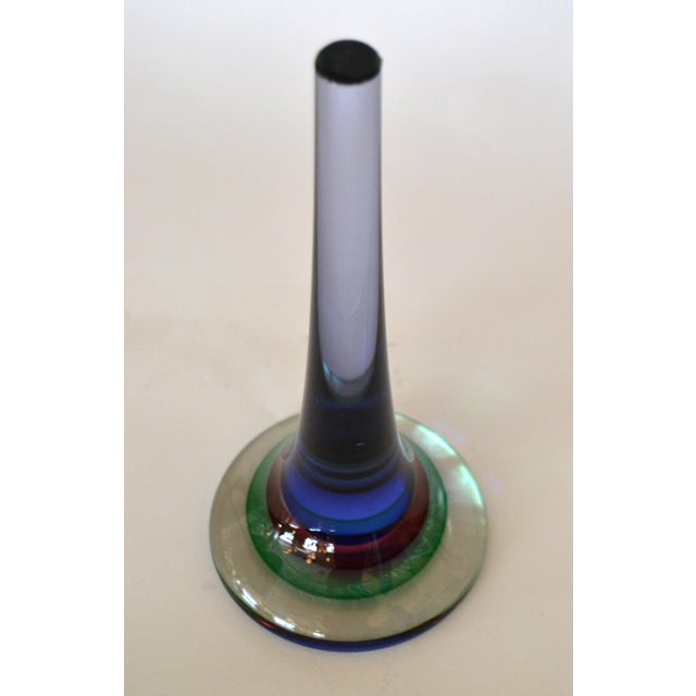 Marked Vetreria Artistica Oball Murano Art Glass Multicolor Paperweight, Italy For Sale In Miami - Image 6 of 12