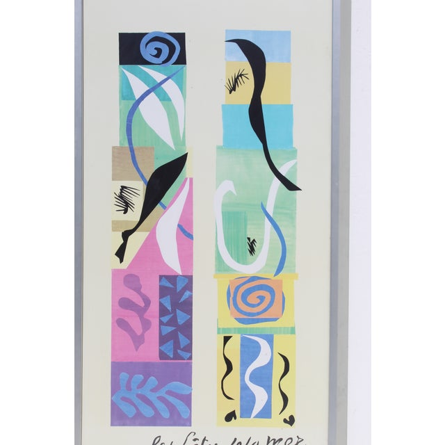 Henri Matisse 20th Century Modern Matisse Poster With Brushed Silver Frame For Sale - Image 4 of 7