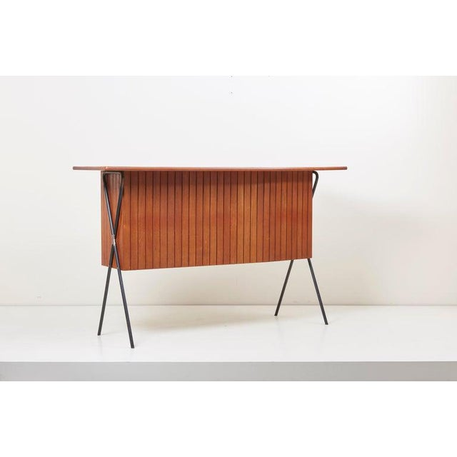 House Bar and Four Bar Stools by Prof. Herta-Maria Witzemann for Erwin Behr For Sale - Image 10 of 13