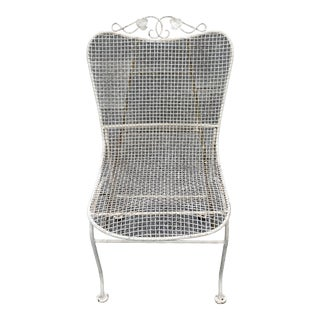 Vintage Russell Woodard Wrought Iron Chair For Sale