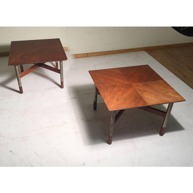 Mid-Century Modern Rare Pair of Arne Vodder End Tables For Sale - Image 3 of 8