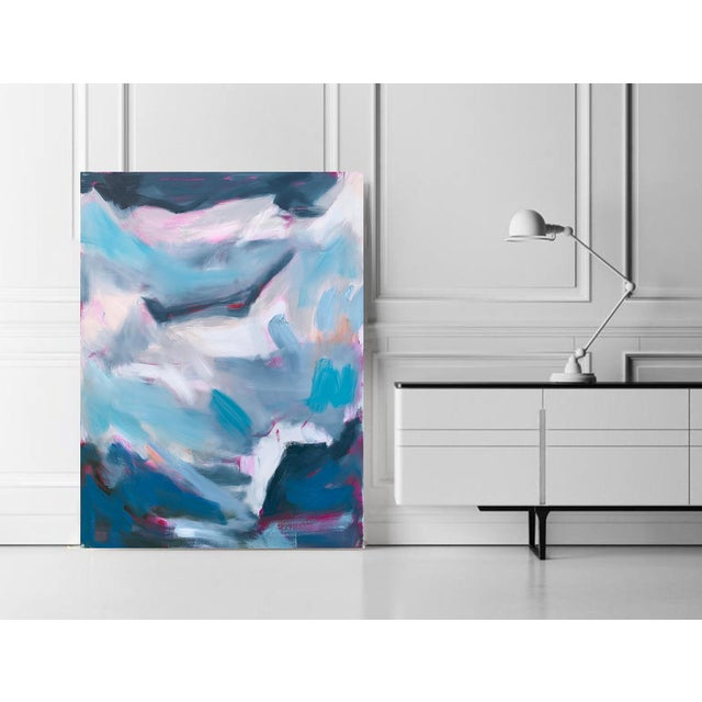 """2010s """"High Seas 2"""" by Trixie Pitts Large Abstract Oil Painting For Sale - Image 5 of 9"""