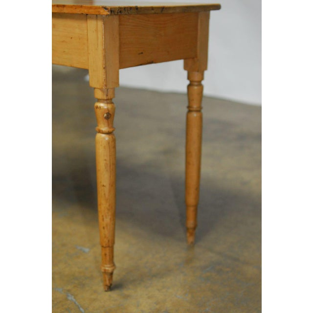 19th Century French Pine Console Table For Sale - Image 7 of 9