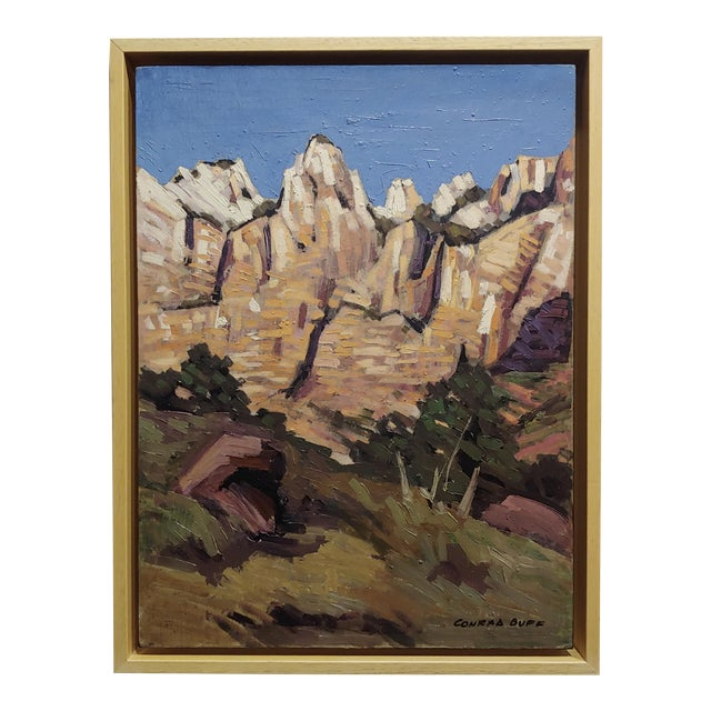 "Conrad Buff ""Rugged Cliffs Landscape"" Oil Painting For Sale"