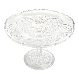 Antique Faceted Pedestal Bowl