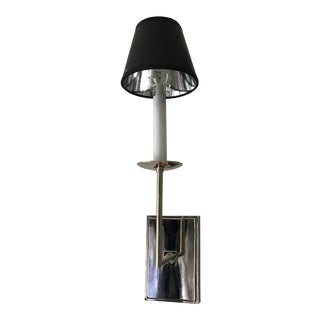 Chic Polished Silver Wall Sconce For Sale