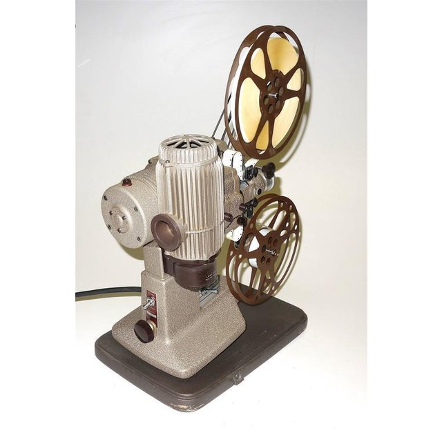 16mm Vintage Movie Projector Circa 1940. Rare Sculpture Piece For Media Room Display. For Sale In Dallas - Image 6 of 8