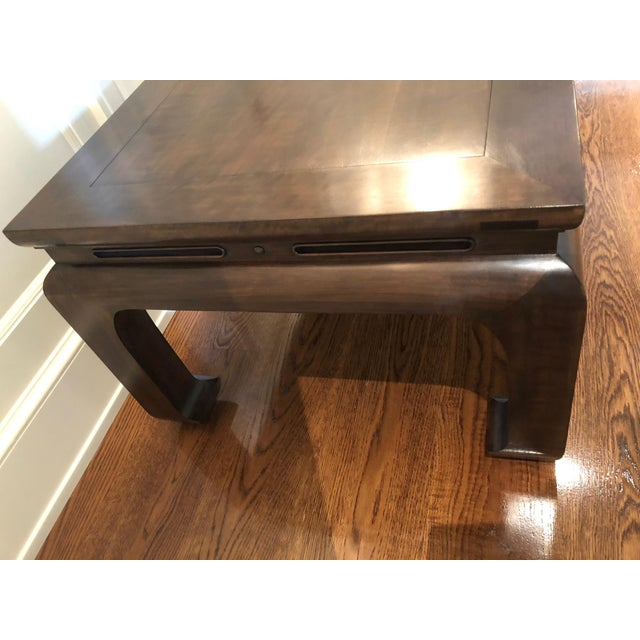 2000 - 2009 Asian Custom Walnut Coffee Table For Sale - Image 5 of 11