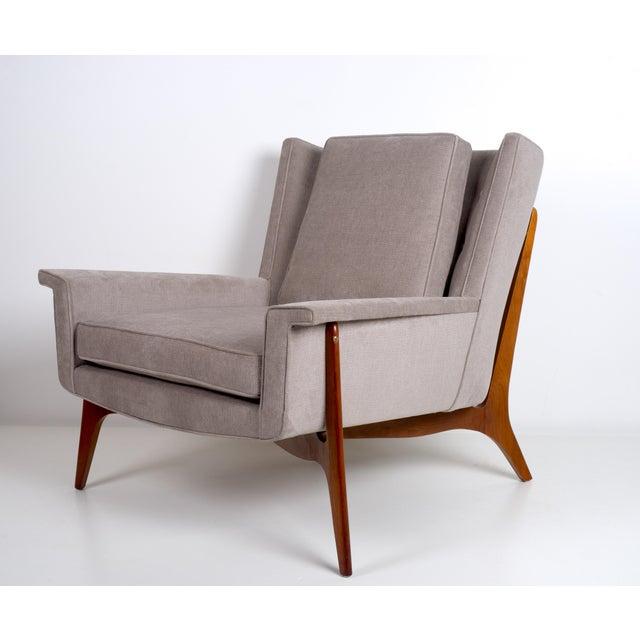 Wood Vladimir Kagan for Dreyfuss Lounge Chair, Circa 1950s For Sale - Image 7 of 7