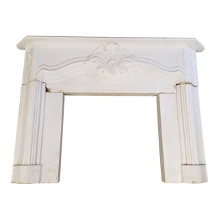 Antique Cast Stone Fireplace Mantel and Surround