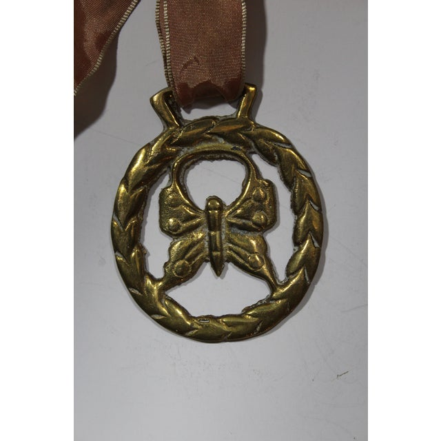 Antique English Brass Ornament with Butterfly - Image 3 of 3