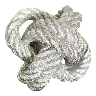 Silver Nautical Knot Paperweight For Sale