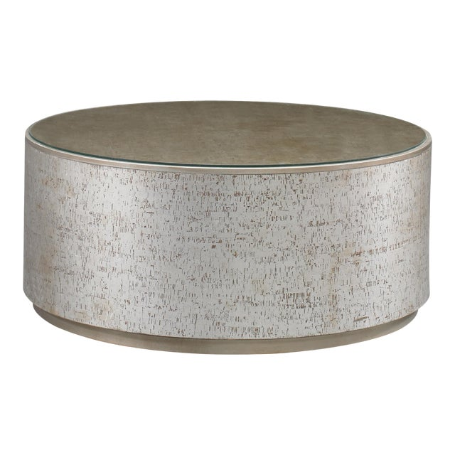 Cork Drum Coffee Table from Kenneth Ludwig Chicago For Sale
