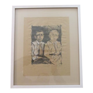 1980s Hand Colored Twins (Bernard and Charley) Print For Sale